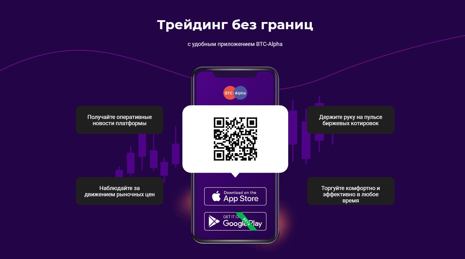 Мобильное приложение BTC-Alpha